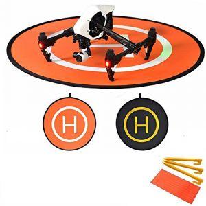 Flycoo 110cm Landing Pad Drone Hélicoptère Parking Tablier Décollage Atterrissage Hélisurface Pad facile à plier pour DJI Phantom 3 4 Inspire Mavic Pro Spark (Flycoo, neuf)