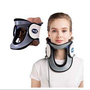 Cou dispositif de traction cervicale à domicile protection médicale collier gonflable cou avec pompe-n'importe où pour soulager la douleur au cou + confortable à porter,White (M Monica, neuf)