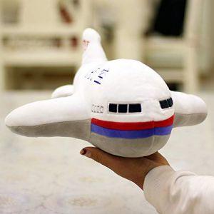 Avion en peluche jouet petit avion poupée chiffon poupée gros oreiller enfants Saint Valentin cadeau avion poupée 40 cm (lizhaowei531045832, neuf)