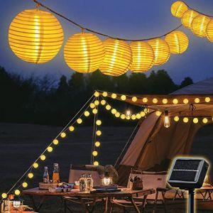 SALCAR 10 M Solaire Guirlande Lumineuse 40 LEDs Étanche Lampe Lanterne, Guirlande Lampions LED Imperméable Lumières Féériques de Décoration Pour Jardin Fête Noël Halloween Décoration - Blanc Chaud (Salcar GmbH, neuf)