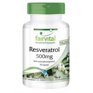 Resvératrol 500mg - 90 gélules - Resvératrol (Fairvital - substances vitales bioactives, neuf)