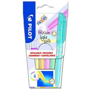 PILOT FriXion Light Soft Lot de 6 surligneurs effaçables Rose pastel, jaune, violet, bleu, orange, vert (PAPETERIE DU COLLEGE, neuf)