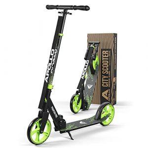 Apollo XXL Wheel Scooter 200 mm - Phantom Pro Vert est Un City Scooter Trotinette de Luxe, City-Roller Pliable et réglable en Hauteur, Kick Scooter pour Adultes et Enfants (geschenk-kiosk, neuf)