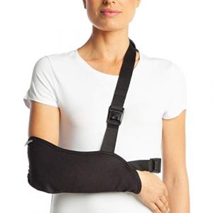 ArmoLine, attelle de bras respirante pour l'immobilisation d'un bras ou d'un poignet cassé d'adulte, noir (Medical Import Ltd., neuf)