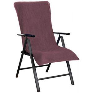 Brandsseller Housse de Protection en Tissu éponge pour Chaise de Jardin et Chaise Longue de Jardin et Chaise Longue de Plage 100% Coton mûres (brandsseller, neuf)