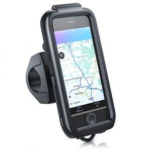 arendo iPhone 7 Support pour vélo étanche - Étui pour Bike Sac pour Vélo - Mount pour téléphone Portable Smartphone Stand - Fixation sûre - Adapté à Tous Types de velos - Noir (CSL-Computer, neuf)