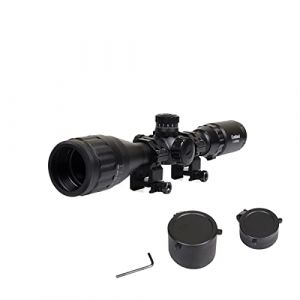 Goetland 3-12x40 AO Lunettes de Visée Airsoft à Réticule Illuminé avec Point Vert et Rouge avec Anneaux de Montage (Goetland-EU, neuf)