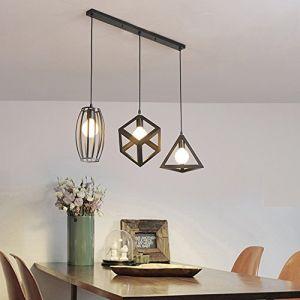 STOEX Retro Lustre industriel métal Suspension luminaire 3 lampes pour Restaurant Terrasse Salon (STOEX, neuf)