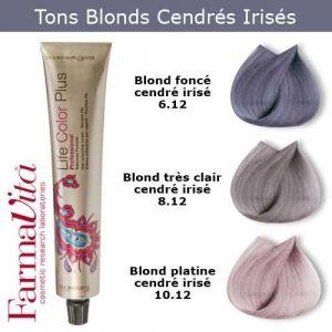 Coloration cheveux FarmaVita - Tons Blonds Cendrés irisés Blond foncé cendré irisé 6.12 (Cosmetics United Boutique, neuf)