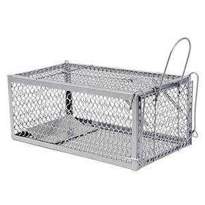 warkhome 1 porte Souris Piège à rat souris Cage pour rongeurs, Live Fer Animal Cage Piège à Best Souris Catcher (Argenté) (WARKHOME, neuf)