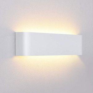 Lightess Applique Murale LED 12W Intérieur Lampe Moderne Décorative Créatif Lumiaire Originale Éclairage Design Lampe de Chambre Salon Escalier Maison Couloir Bureau Hôtel Restaurant Blanc Chaud (Louvra, neuf)
