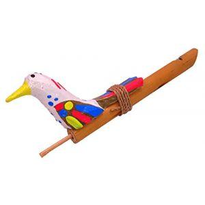 Sifflet à Coulisse Appeau Oiseau Bois Bambou Artisanal bamboo whistle sifflets (BALI PAPAYA, neuf)