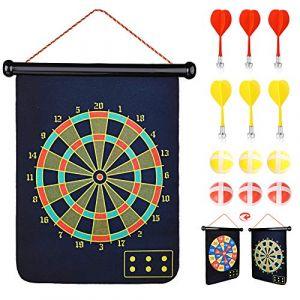 Abree Cible Scratch Jeu de Cible Enfant Jeu de Fléchettes Cible pour Accrocher à lintérieur ou à lextérieur avec 6 Balles et 6 fléchettes (KidsHobby, neuf)