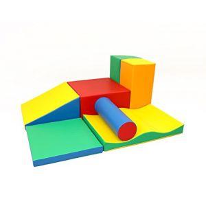 IGLU XXL Modules de Motricité, Modules en Mousse, Blocs de Construction, Jouets éducatifs 7 pièces (IgluSoftPlay, neuf)