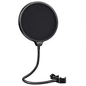 YOTTO Microphone Filtre Anti Pop micro Écran anti-vent Avec Double Couche Pop filter pour Microphone Blue Yeti, Yeti Pro Microphone à Condensateur (NEUMA Official, neuf)