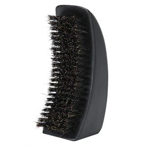 Poignée en bois hommes brosse de rasage faciale professionnelle, brosse à barbe portable brosse de nettoyage de barbe peigne de soin de barbe pour salon de coiffure (Duevin89, neuf)