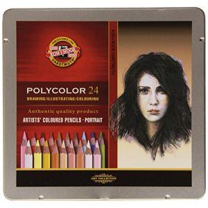 Koh-I-Noor Polycolor Portrait Crayons de Couleur pour l'Artiste (Set de 24) (aysiboo, neuf)