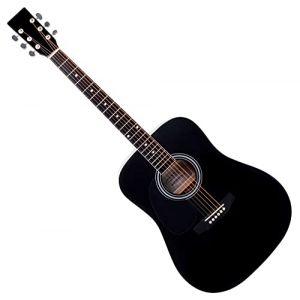Classic Cantabile WS-10BK-LH Guitare Folk Noir Modèle Gaucher (Maison de la musique Kirstein, neuf)