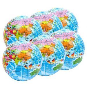 Balle Anti Stress - 6 x Atlas balle de stress , Globe , Planisphère squeezy Balles - parfait pour soulager du stress et de l'autisme (StressCHECK, neuf)