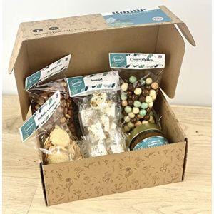 CHOCOLAT DE PAQUES - COFFRET ANIS 5 SPECIALITES : nougats, biscuits, confiture de lait, croustybilles et cacahuètes grillées - CHOCOLAT DE PAQUES - GOURMANDISES DE PAQUES - OEUFS EN CHOCOLAT (CHOCODIC, neuf)