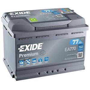 Batterie Exide Xtreme EA770 12v 77ah 760A 278x175x190mm + Droite (Groupe Power, neuf)