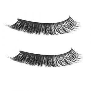 Frcolor Paire de cils fous faits à la main doux Longs couteaux volumineux Maquillage Laisseurs d'oeil (noir) (Vestle, neuf)
