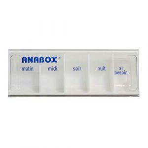 Pilulier Journalier | 5 Cases | Blanc | Anabox (BIVEA, neuf)
