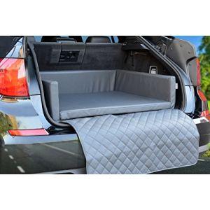 Couverturede protection pour coffrede voiture- Lit pour chien en simili cuir gris - Mypado® (Der-Koi-Shop, neuf)