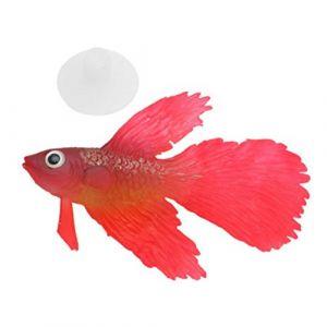 Hanyia 3 Couleurs Faux Poisson pour Décoration d'Aquarium Poisson Rouge et Poisson Betta-2 Types (Hanyia EU, neuf)