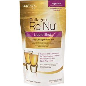 Shot de poudre de collagène bovine casher Skinpep ReNu - Anti-vieillissement - À boire au quotidien - Complément nutritif (SkinPep - Premium Professional Aesthetic Skin Care, neuf)