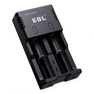 EBL 992 Chargeur de Piles Rechargeables Li-ION 18650 26650 22650 AA/AAA/C Ni-MH Ni-CD Pile avec AC/DC Plug(Piles Non Inclus) Â… (EBL Official, neuf)