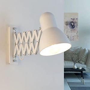 Applique extensible flexible en blanc E27 Applique murale Vintage lampe de lecture Applique séjour chambre à coucher éclairage intérieur de cuisine (Licht-Erlebnisse, neuf)