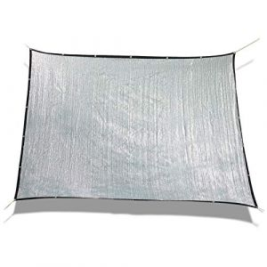 Laxllent Toile d'ombrage Serre Rectanglulaire,1.8x2m, Toile d'ombrage Pergola,Aluminet Bâche Anti UV 70% pour Voiture & Animaux,Argenté (Sun Twinkle, neuf)
