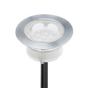 Spot Encastrable LED pour Terrasse,Mini Spot Encastré en DC12V IP67 Etanche Ø60mm Acier Inoxydable Exterieur luminaire,Eclairage pour Jardin,Couloir (Blanc chaud, 1 KIT) (CHENXU, neuf)