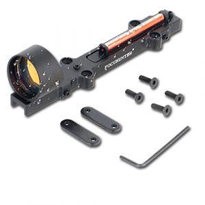 FOCUHUNTER 1x28mm Fibre Optique Rouge/Verte visée de Fusil à Point holographique Fusil de Chasse pour Les Sports de Plein air Mire Tactique à Point Rouge/Vert 3MOA (Rouge) (FOCUHUNTER, neuf)