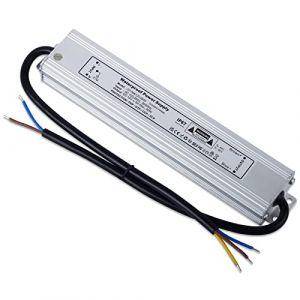 YAYZA! 1-Paquet Adaptateur ultra-mince compact pour pilote LED basse tension Étanche IP67 12V 5A 60W universel pour alimentation intérieur/extérieur à découpage CA/CC (ClickBuy Group, neuf)