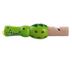 Daylyric Sifflet En Bois Sifflet De Modèle De Dessin Animé Mignon Pour Les Enfants De Tous Âges,Crocodile (sha men ceng, neuf)