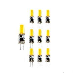 Lampe Ampoule LED G4 LED COB 12 V CD 4000 K Lumière jour 3 W, (Pack 10), 46480 (TECNOLUX GLOBAL S.L, neuf)
