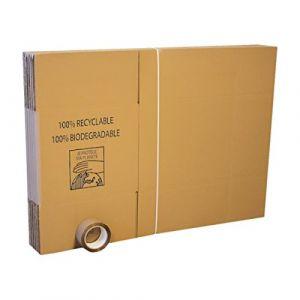 Pack 10 cartons déménagement standard + Adhésif 66m (A.K TRADING, neuf)
