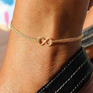 Jovono simple infinity Bracelet de cheville Luck Pied Chaîne pour les femmes et les filles (Jovono, neuf)