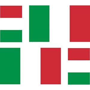 4 x Autocollant sticker voiture moto valise pc portable drapeau italie italien (Akachafactory, neuf)