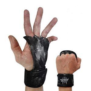 Power Beast Maniques de Crossfit, Gants Crossfit, Grips   Gants et Protège Poignet sans doigts 2 en 1   Poids, gymnase, fitness, musculation, haltérophilie   Protection Mains et Poupées   1 paire. (Power Beast, neuf)