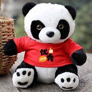 Poupée Panda En Peluche, Cadeau De Poupée De Poupée De Chiffon, Cadeau Pour Enfants Assis 22 Cm De Haut Rouge (lizhaowei531045832, neuf)