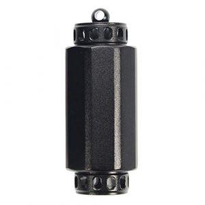Toygogo Porte-clés Pilulier Vide Mini-bouteille en Alliage D'aluminium, étanche, Pour Camping, Voyage - S noir (Amateur players, neuf)