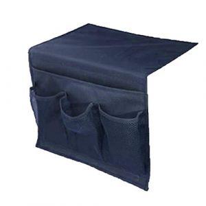 Organiseur Autobloquant - Sac de Rangement de Chevet Organisateur Suspendu Chaise Accoudoir Organisateur pour dortoir Voiture Canapé lit côté Rails pour Accoudoir de Fauteuil/Sofa (Serria, neuf)