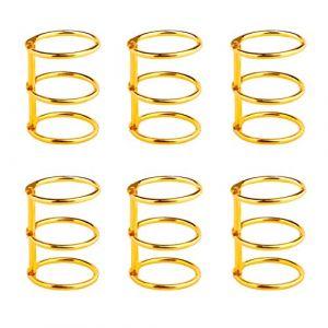 Anneaux de Livre 3-Ring Anneaux Reliures à Feuilles en Métal 25mm Classeur à anneaux Métalliques pour Carte d'étude Album Photo Scrapbook Feuilles 6 Pièces Or (HONGXIN-SHOP, neuf)