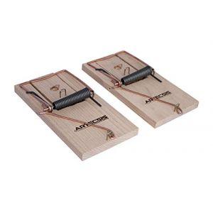 2x Piège à rat, Tapette à rat efficace et puissant en bois réutilisable (Challenge Internet, neuf)