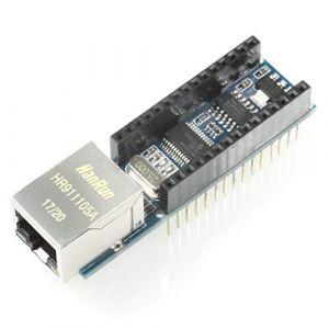 Paradisetronic.com Ethernet Shield, Extension pour Arduino Nano avec ENC28J60, RJ45, par Exemple pour Applications de Serveur Web, IOT (Paradisetronic DE, neuf)