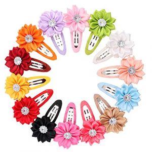 Lurrose 12 ensembles de cartouches de cheveux pour enfants couleur durable, serre - cheveux, serre - cheveux, serre - cheveux, jolie accessoires, pour les filles. (Vestle, neuf)
