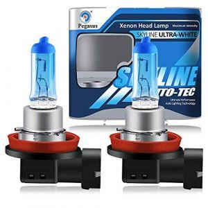 H11 12V 55W 5000K Lumière Ampoule Halogène Super Puissant Lampe Pour Feux de Voiture - Feu de Brouillard de Jour DRL (2pcs) (yifengshun, neuf)